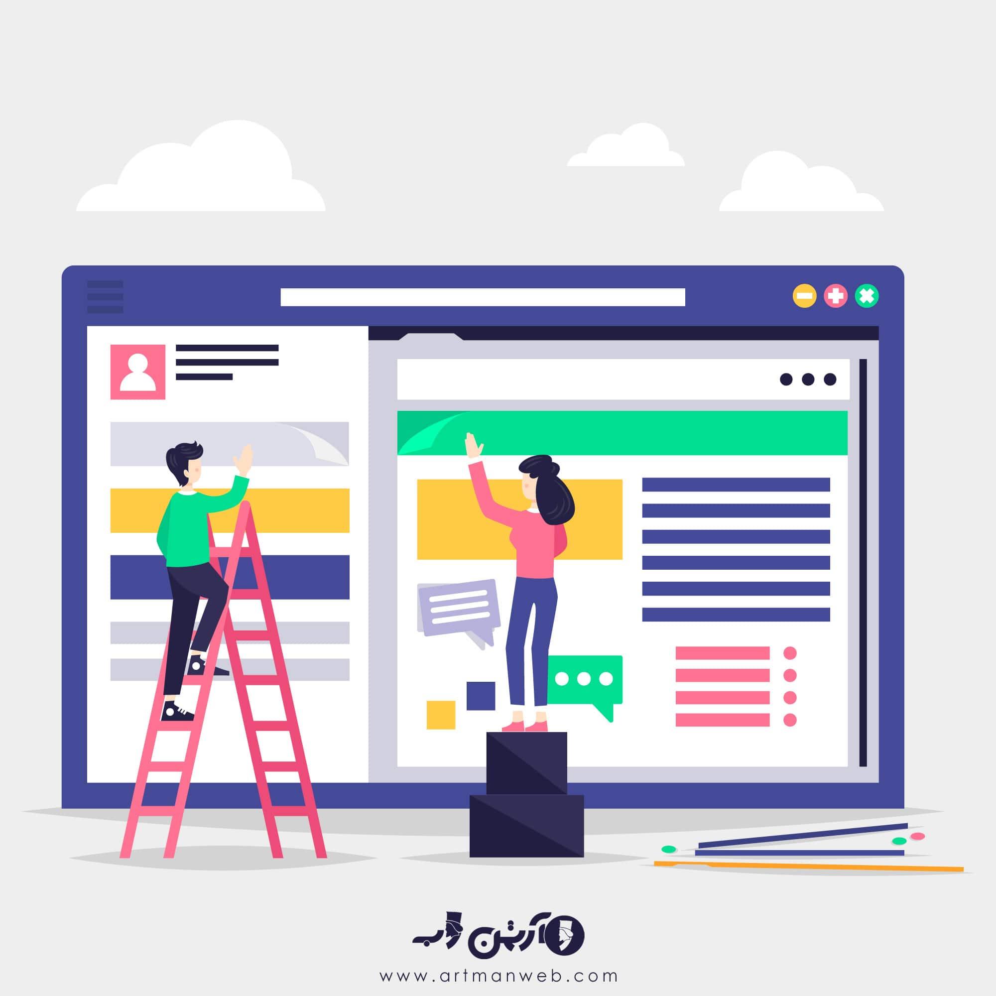 نقش موثر طراحی سایت در برند سازی